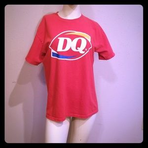 Red Dairy Queen tshirt men's small,  women's mediu